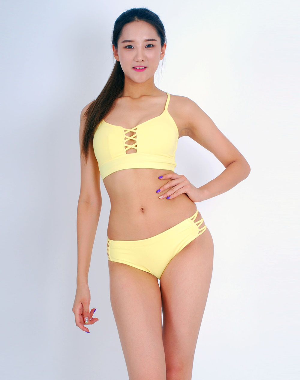 Lily Set  -  lemon yellow